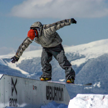 Snowboarder Snowpark King Laurin