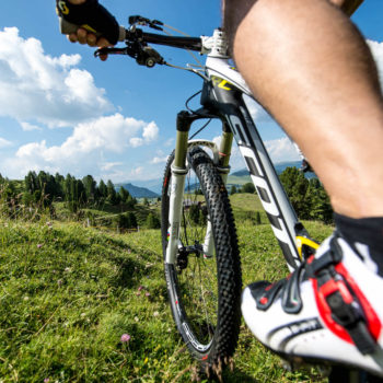 Mountainbiking in the Dolomites on Alpe di Siusi