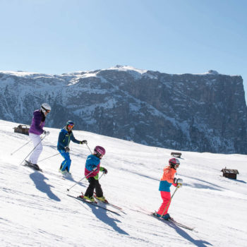 Skiing with the whole Family on Alpe di Siusi